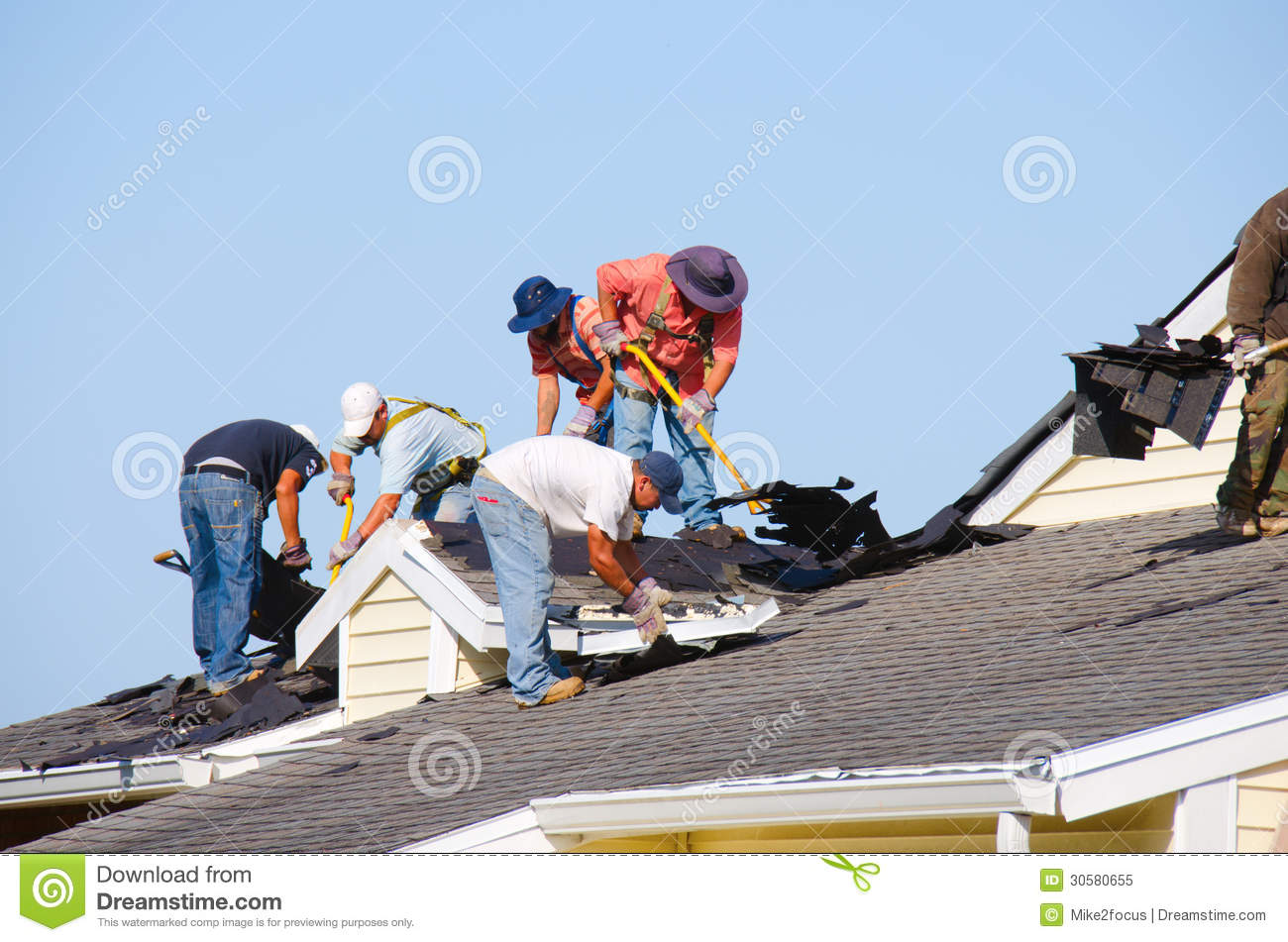Roofing Construction Crew Editorial Image Image 30580655
