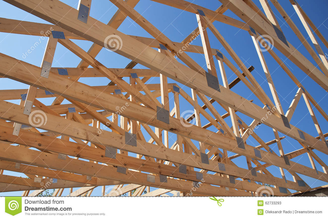 Roofing construction wooden roof frame house construction for House roof construction