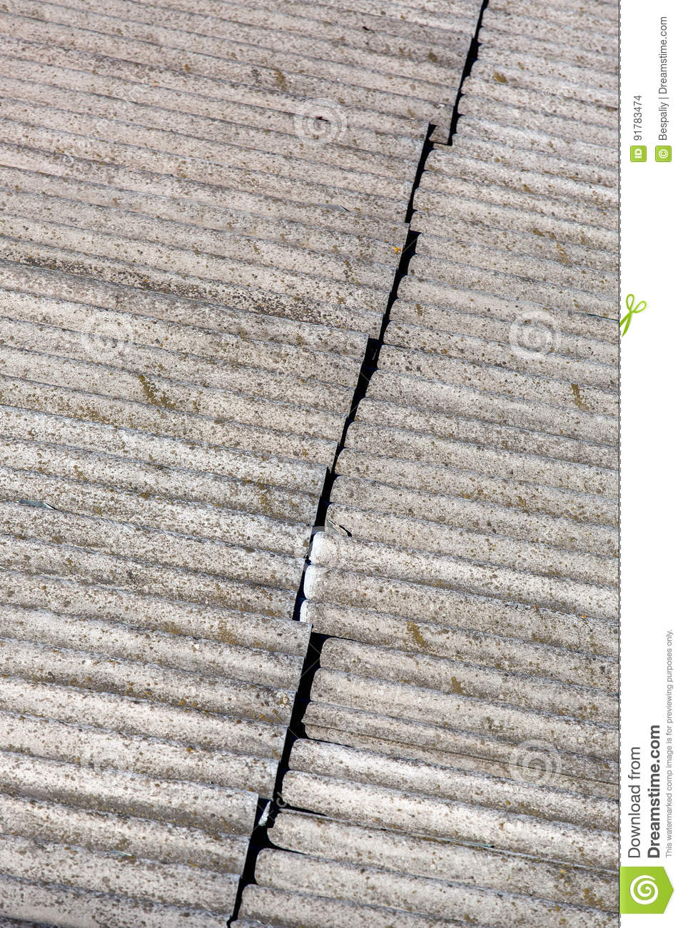 The Roofing Felt Asbestos Stock Photo Image Of