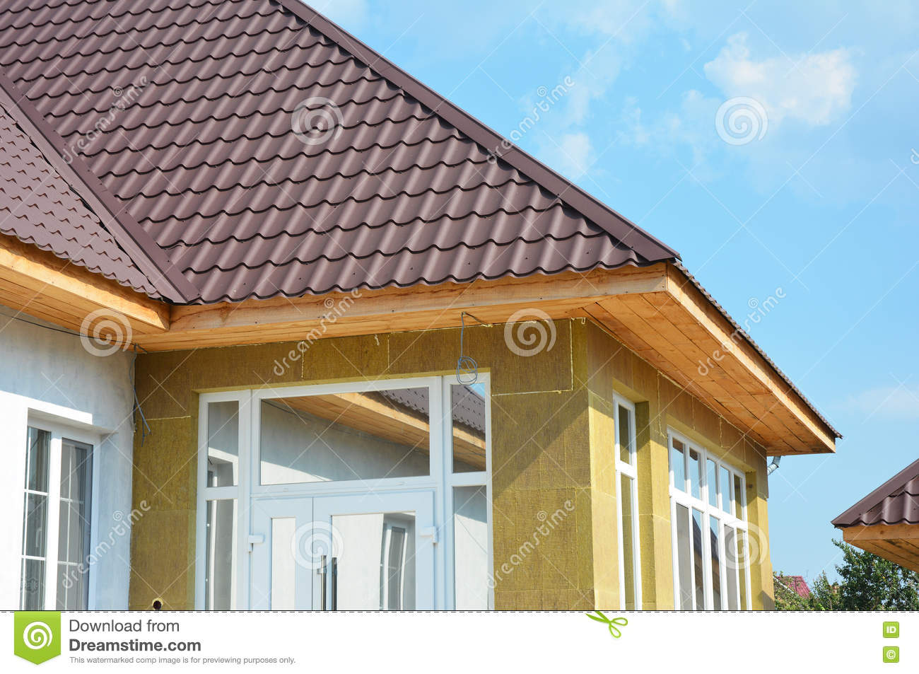 House insulation royalty free stock photography for Comfort house