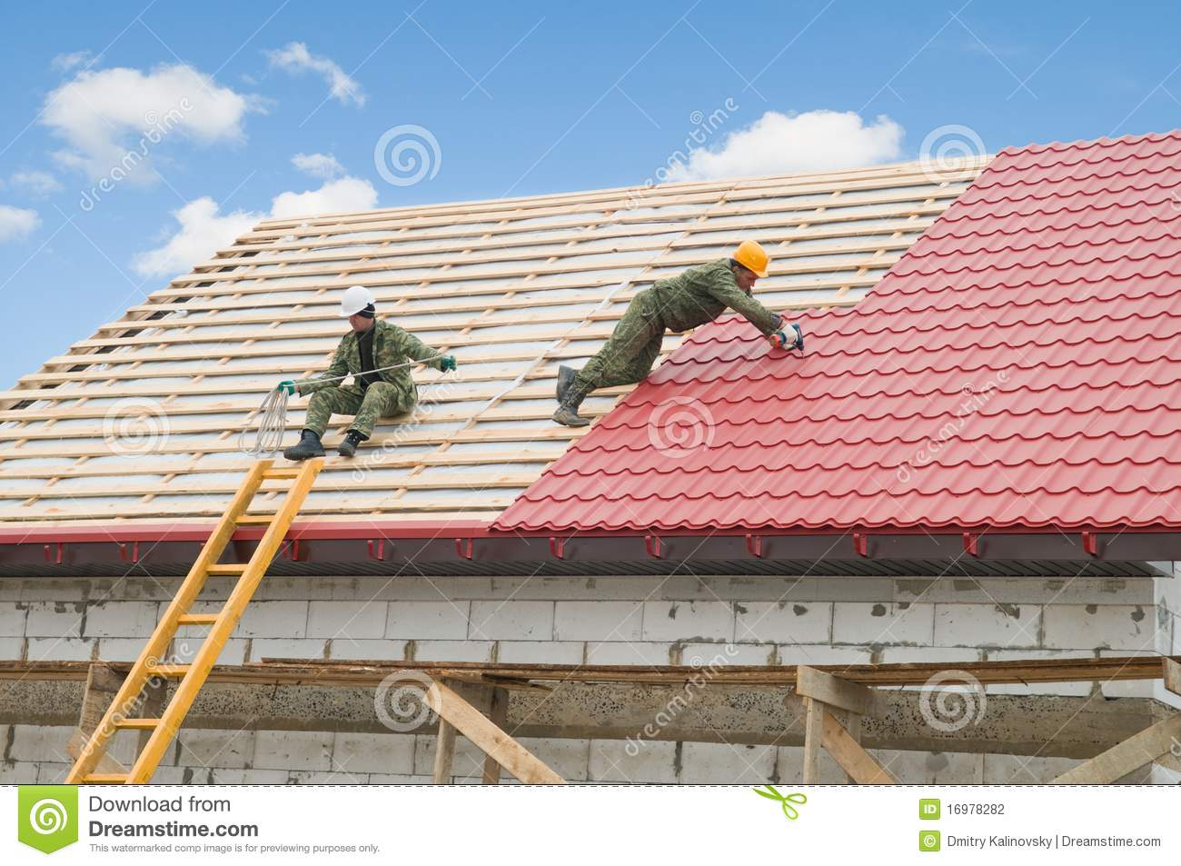 Nice Royalty Free Stock Photo. Download Roofing Work ...