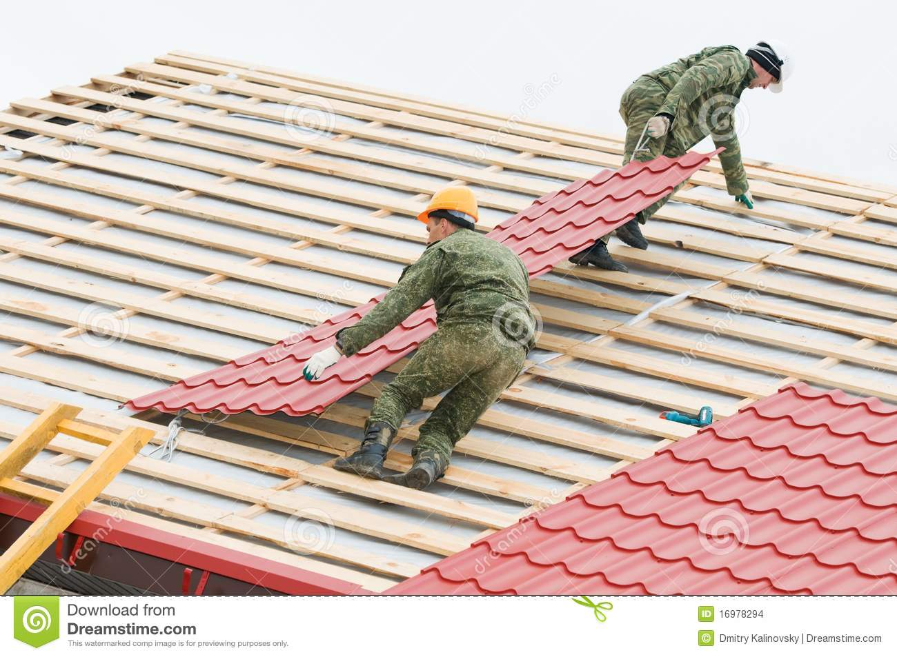 Royalty Free Stock Photo. Download Roofing Work ...