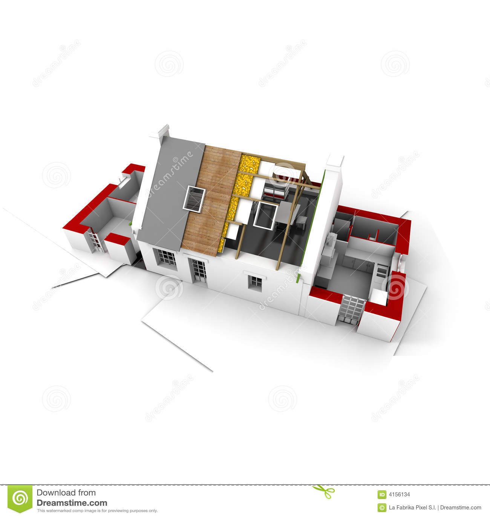 roofless house on architect blueprints red stock images image architect