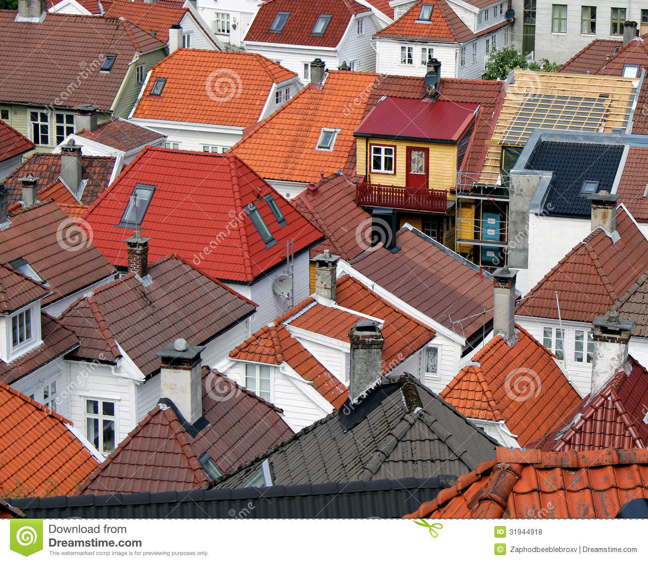 Roofs tiles wooden houses royalty free stock photos image 31944918 - Houses with ceramic tile roofing ...