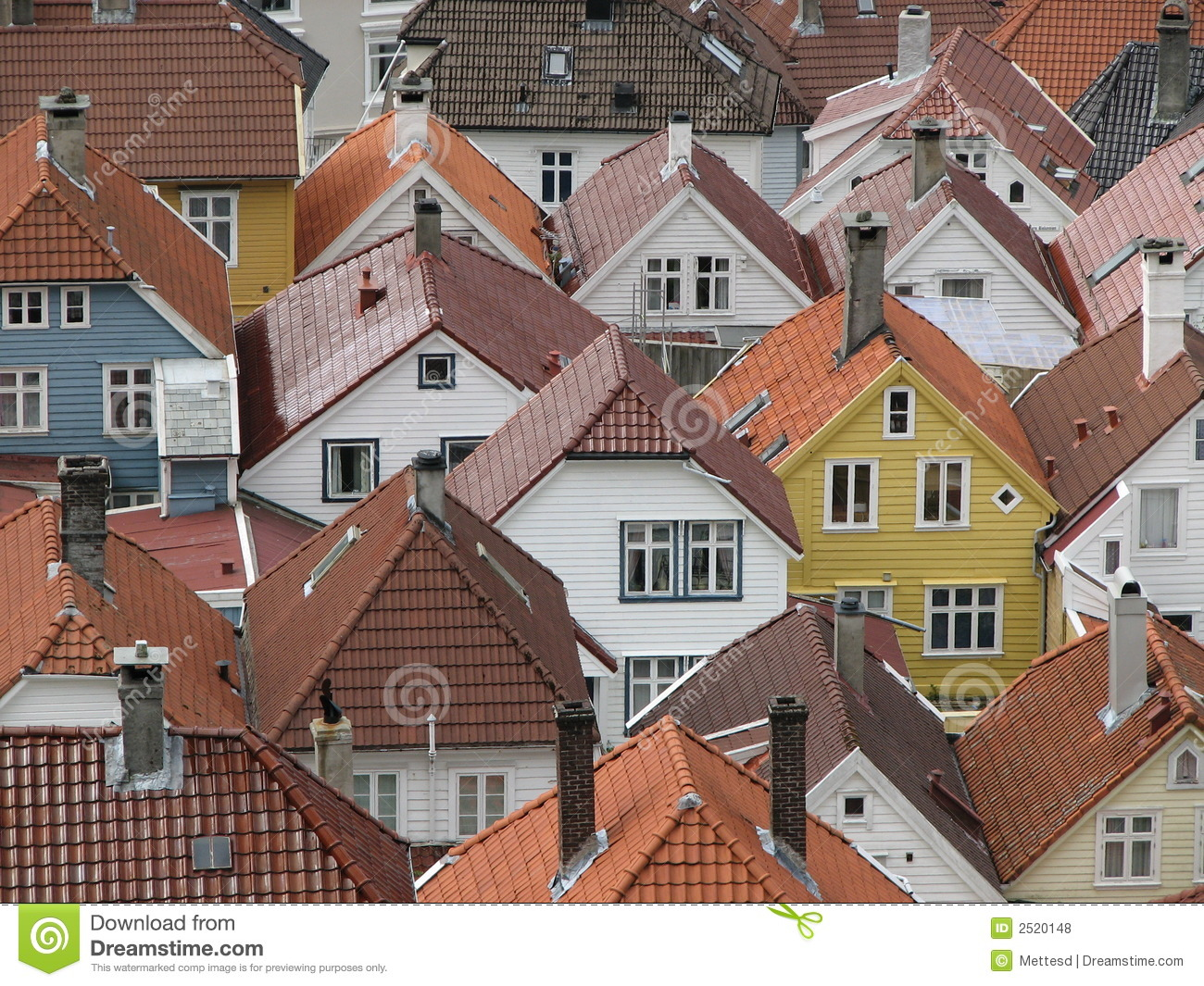 roofs bergen stock photo image of pleasant