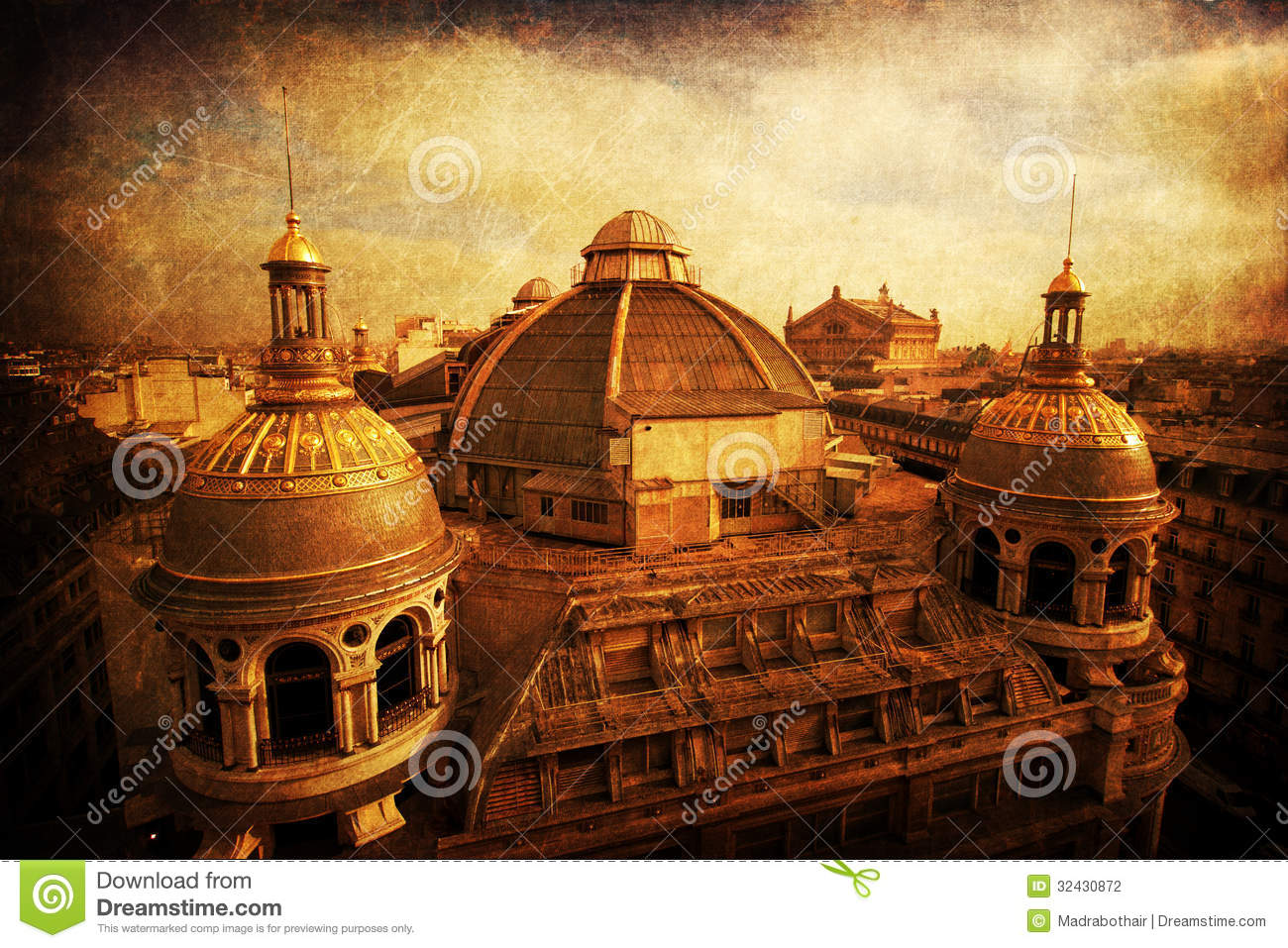 roofs of historical buildings with vintage style texture