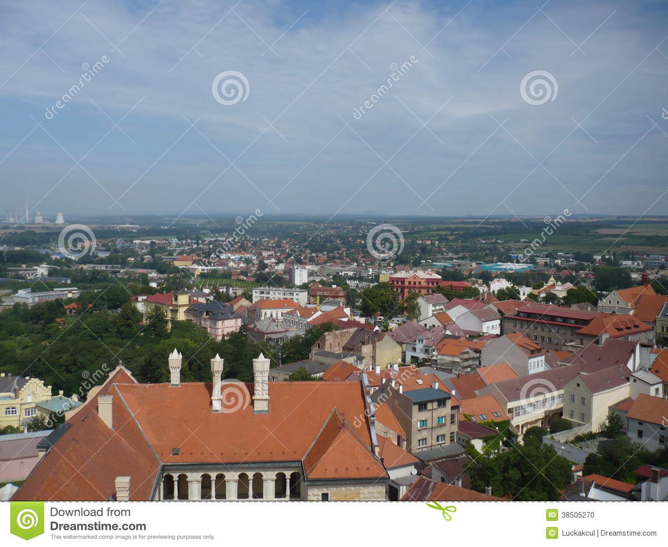 Roofs of houses in Mělník town