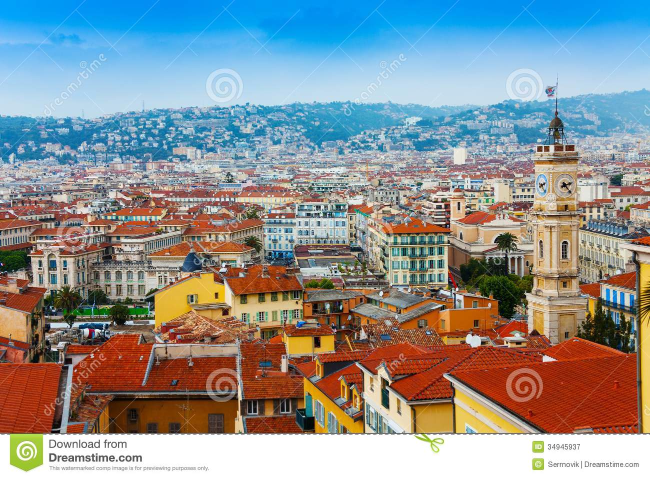 Roofs Panorama Of Nice, France Royalty Free Stock Photography - Image ...