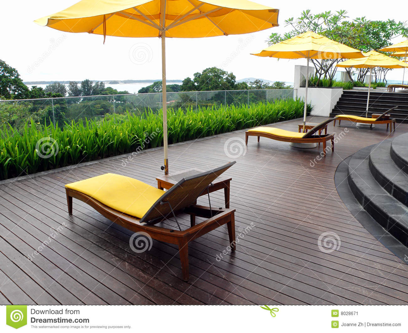 Rooftop Garden Patio Design Stock Image Image