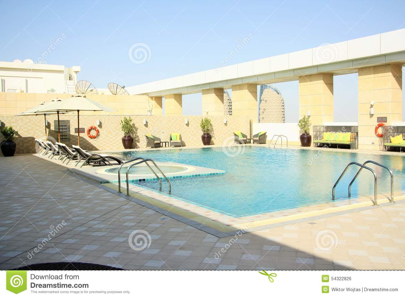 Rooftop Hotel Pool Editorial Photo Image 54322826