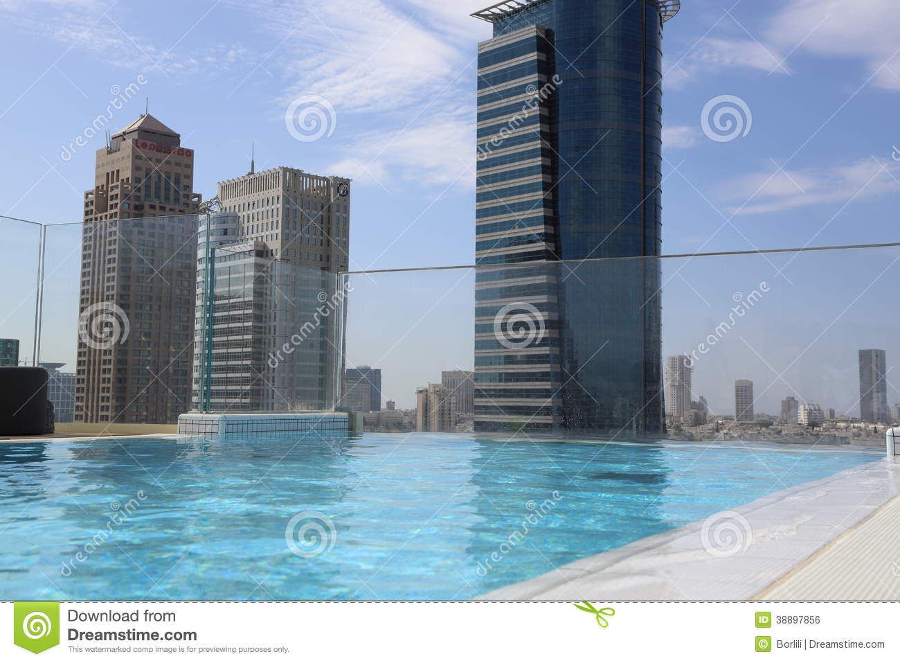 Rooftop Pool Editorial Photo Image 38897856