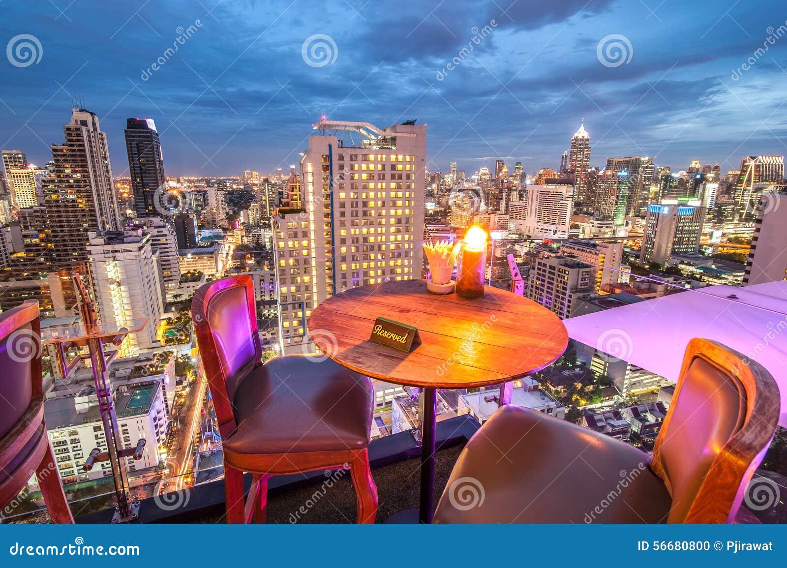 Rooftop Restaurant Stock Photo Image Of Luxury Terrace 56680800