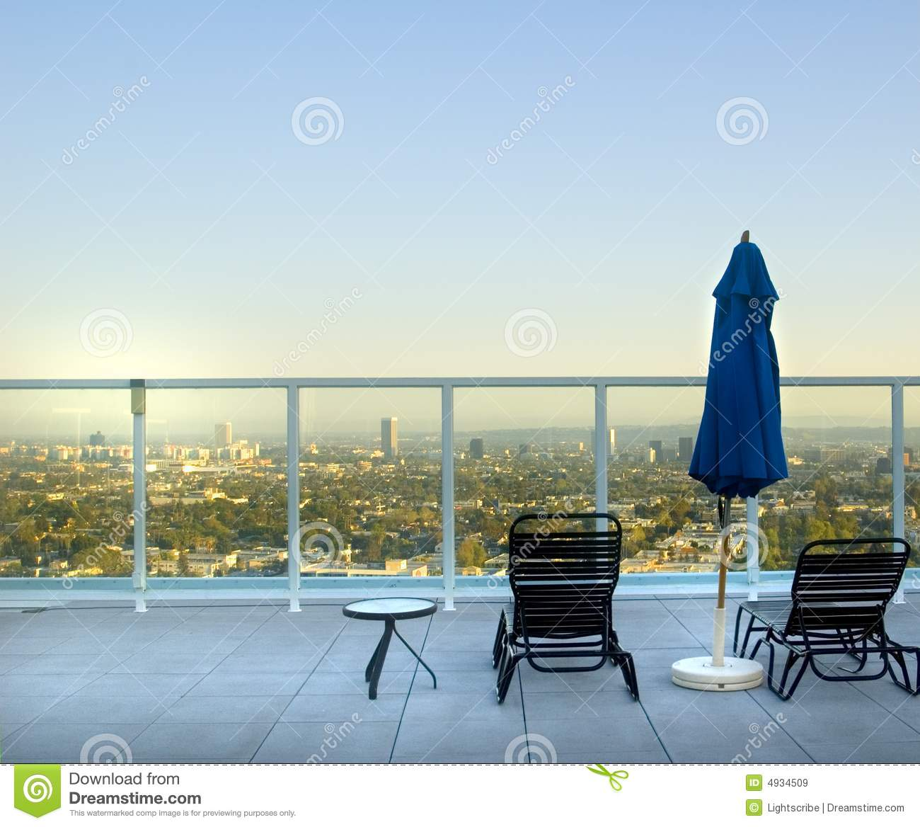 Rooftop View Los Angeles Stock Image Image