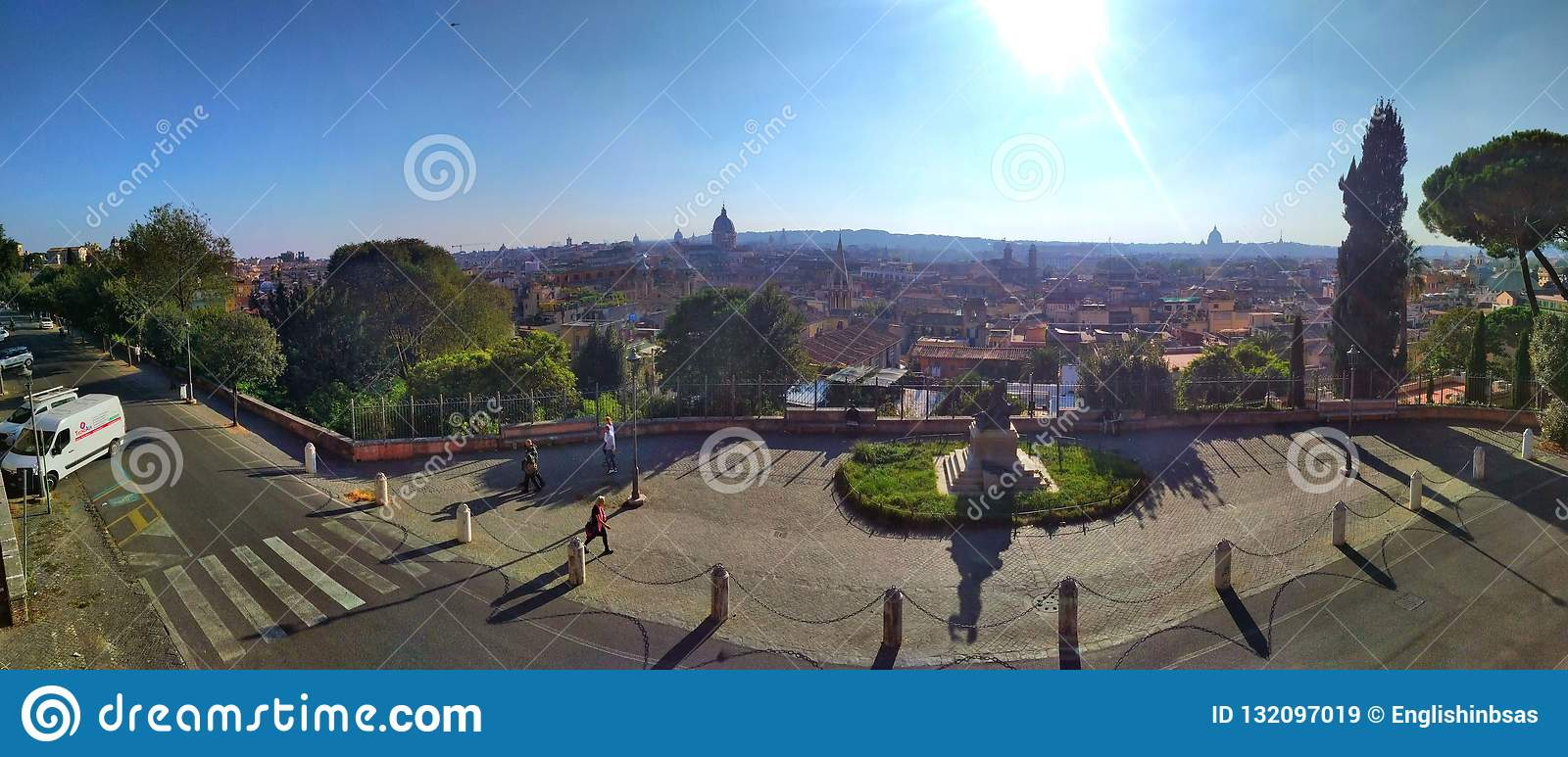 Roof Top Views Of Rome Italy Stock Image Image Of