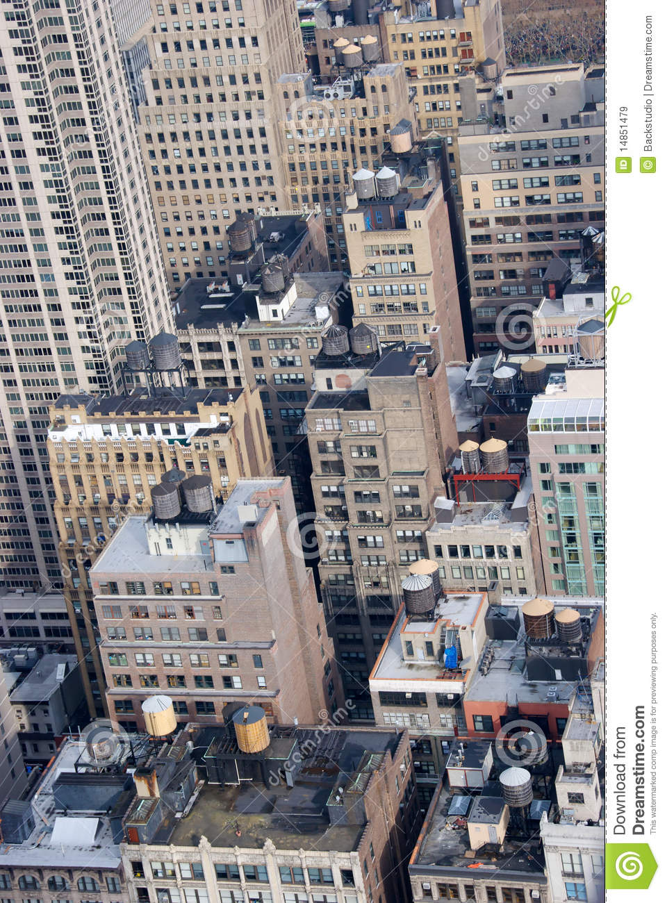 Rooftop Water Tanks Nyc Stock Image Image Of View