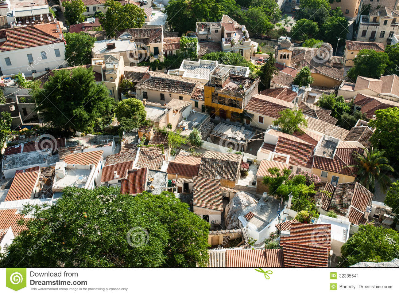 Rooftops In Athens, Greece Stock Image - Image: 32385641