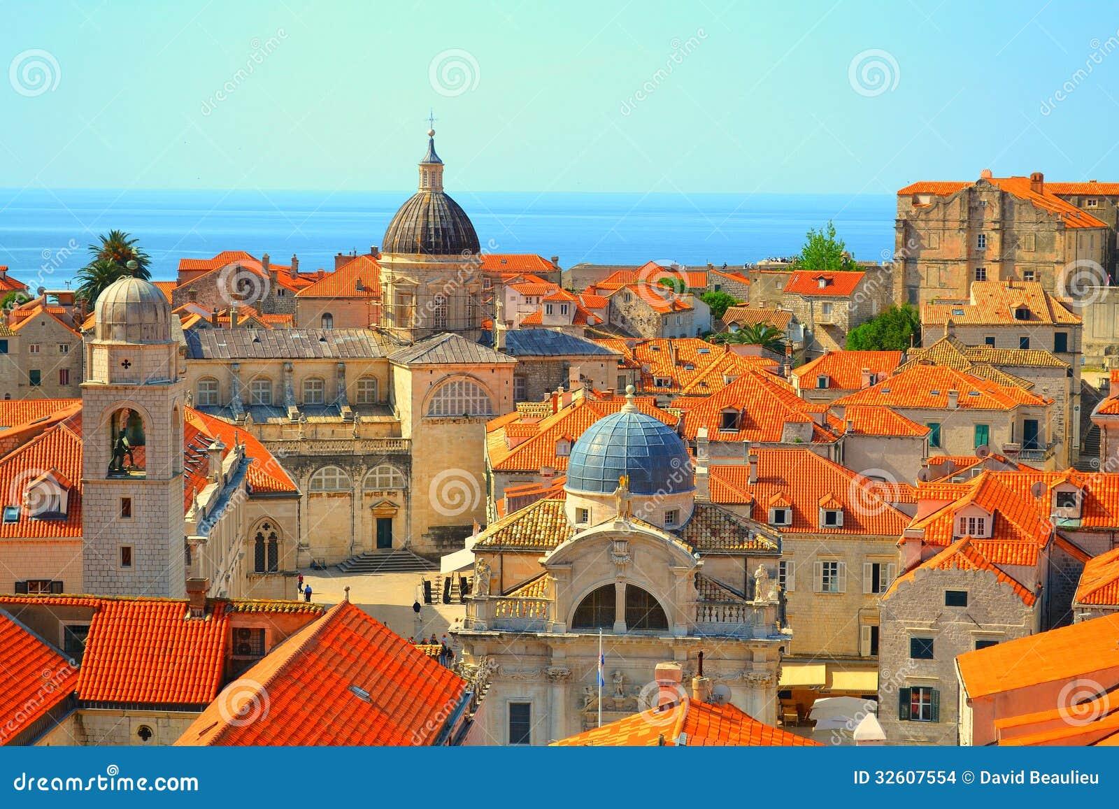 Rooftops in Dubrovnik, Croatia