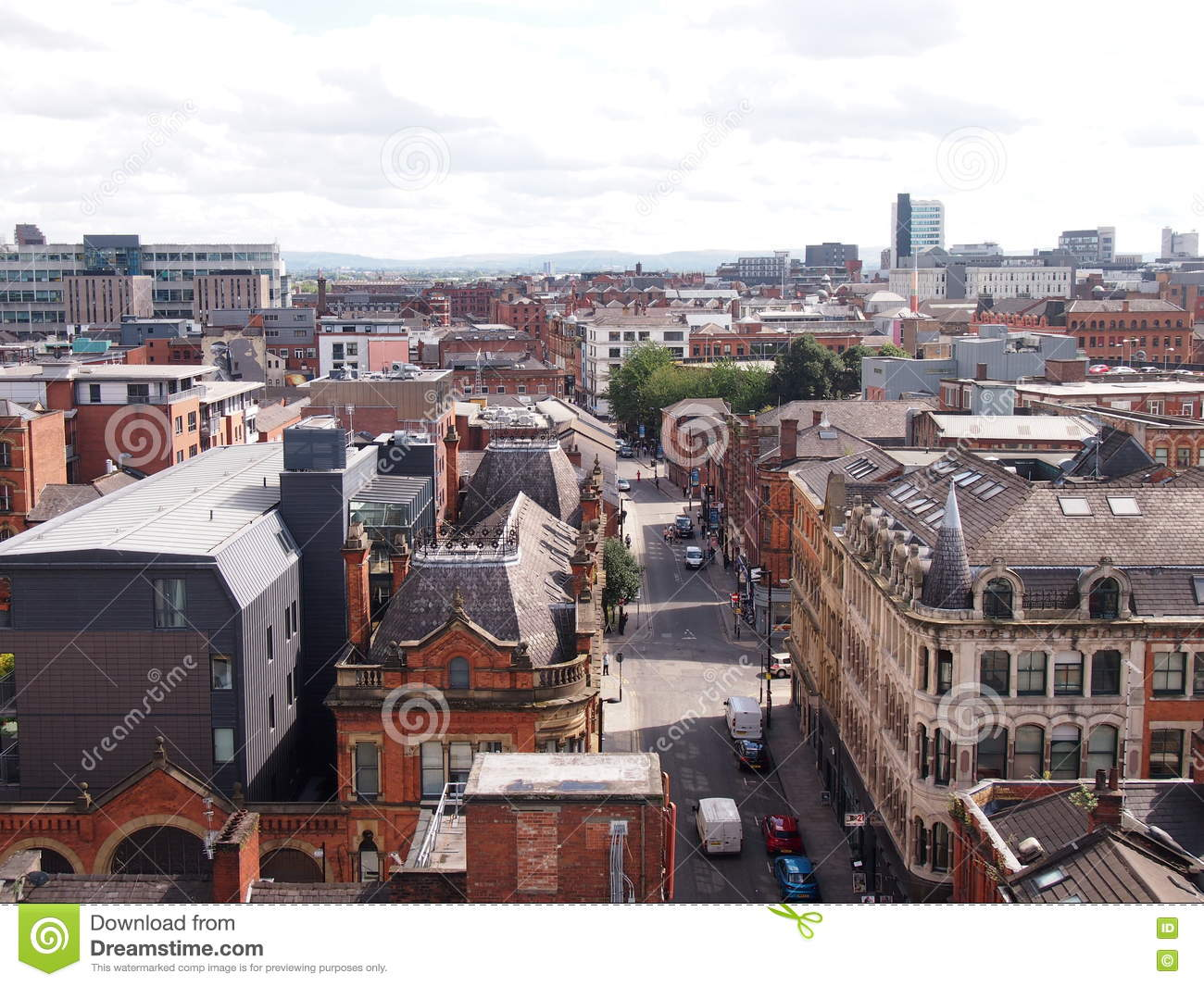 Rooftops of Manchester, England