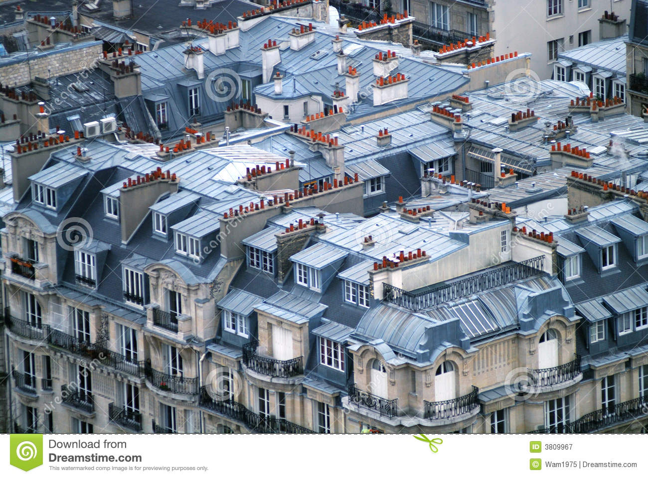 Rooftops In Paris Royalty Free Stock Photography Image