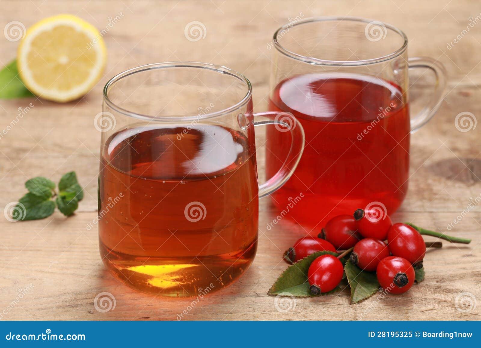 Rooibos e chá do rosehip