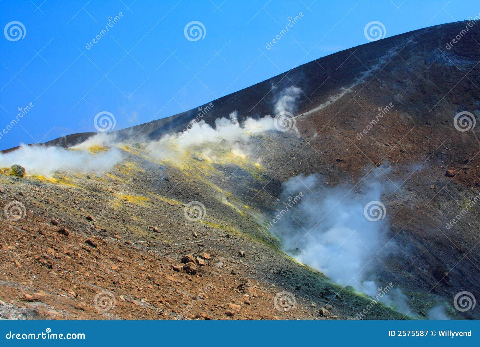 Rook op de vulkaan