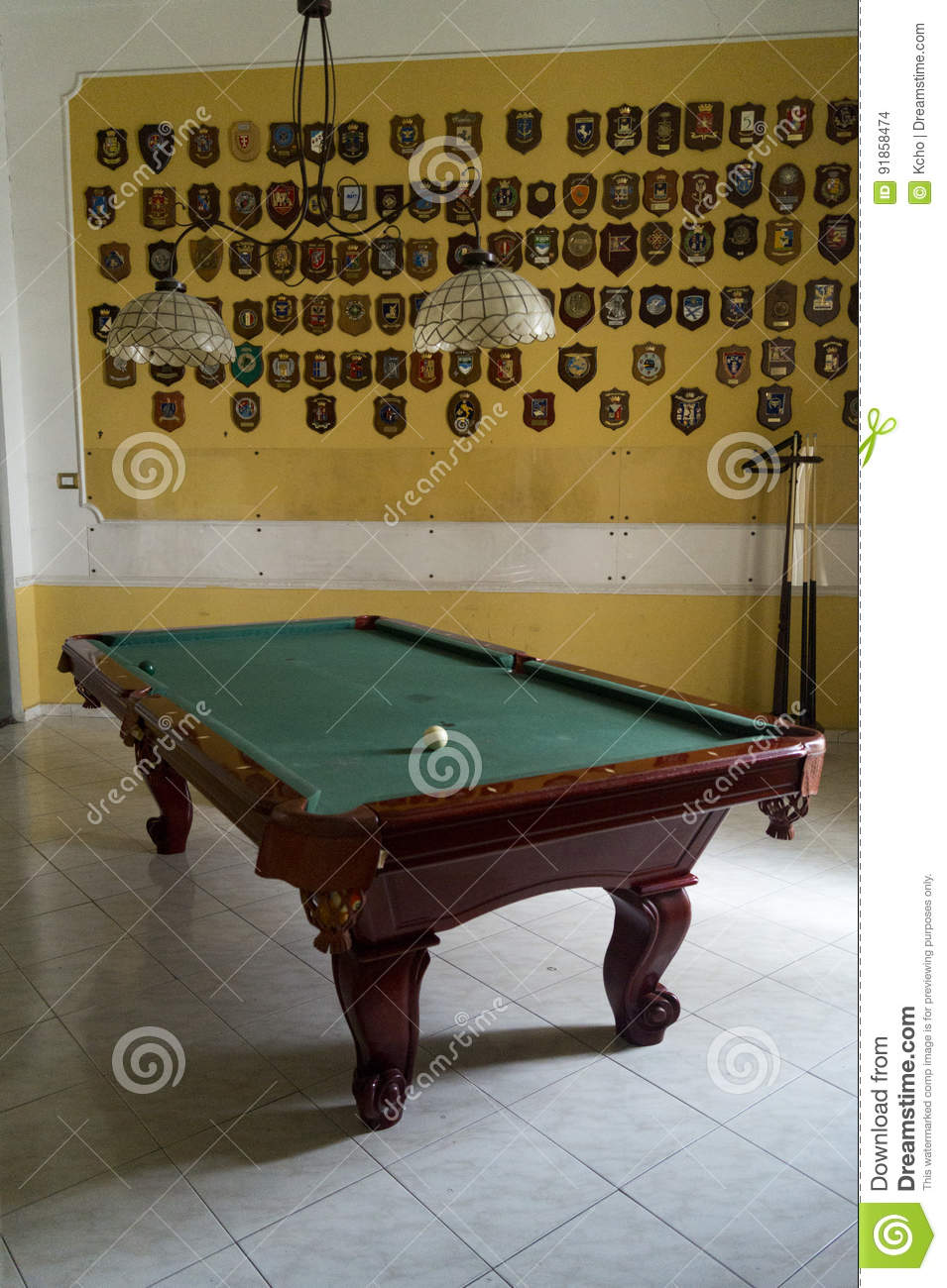 Room with billiards