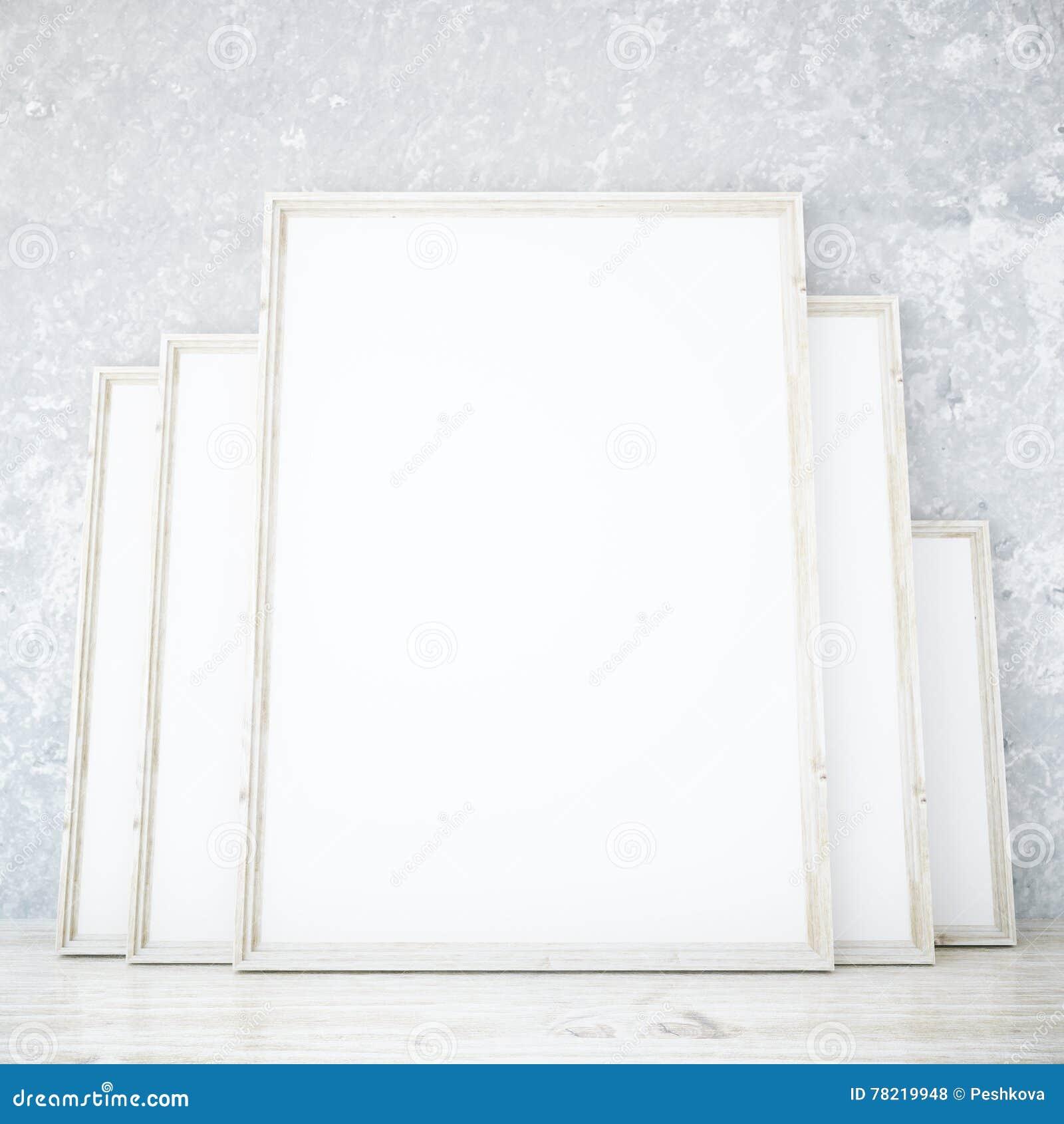 Room with blank frames stock illustration. Illustration of banner ...