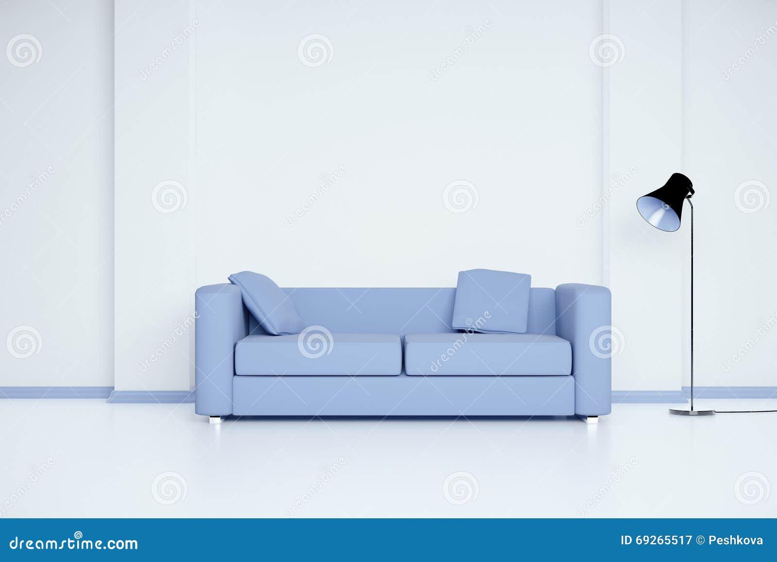 Pleasant Room With Blue Sofa Stock Illustration Illustration Of Machost Co Dining Chair Design Ideas Machostcouk