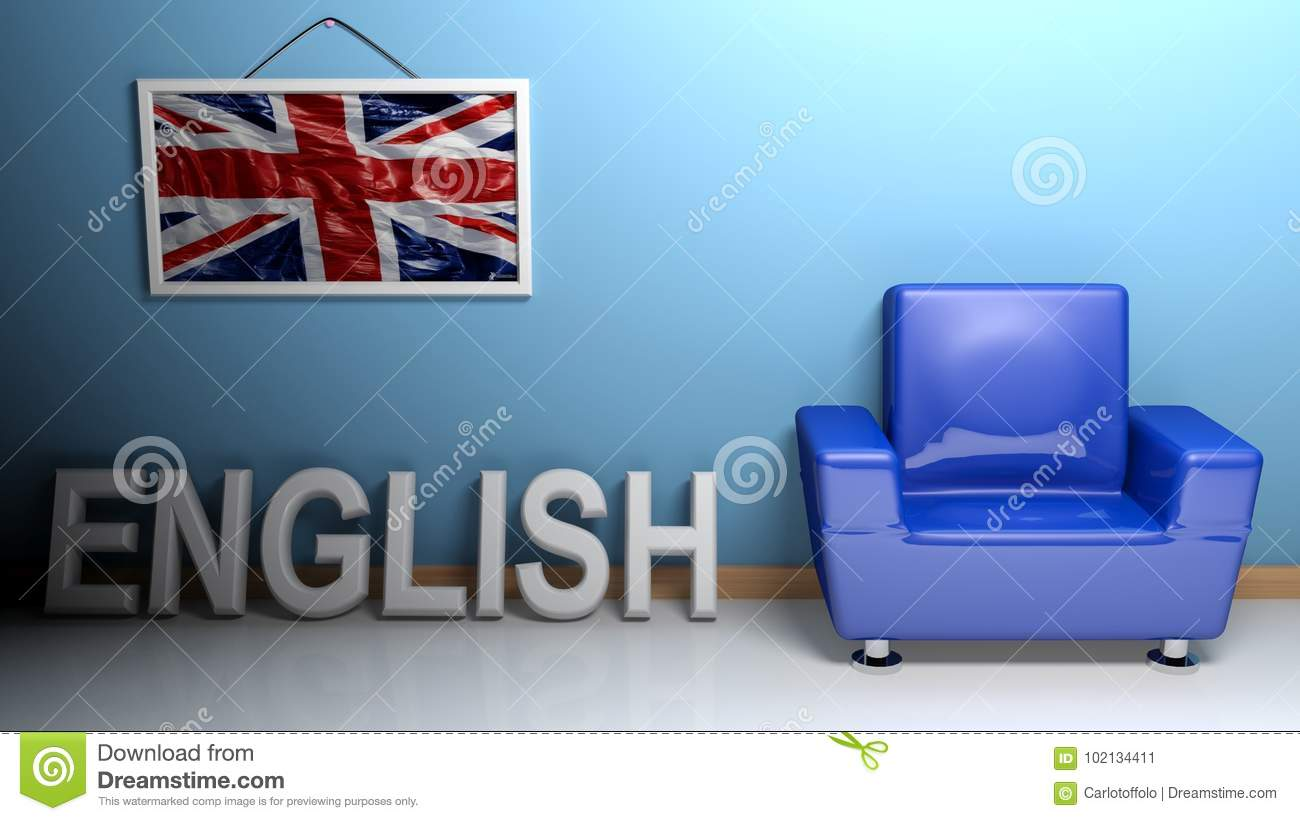 Room of english language - 3D rendering