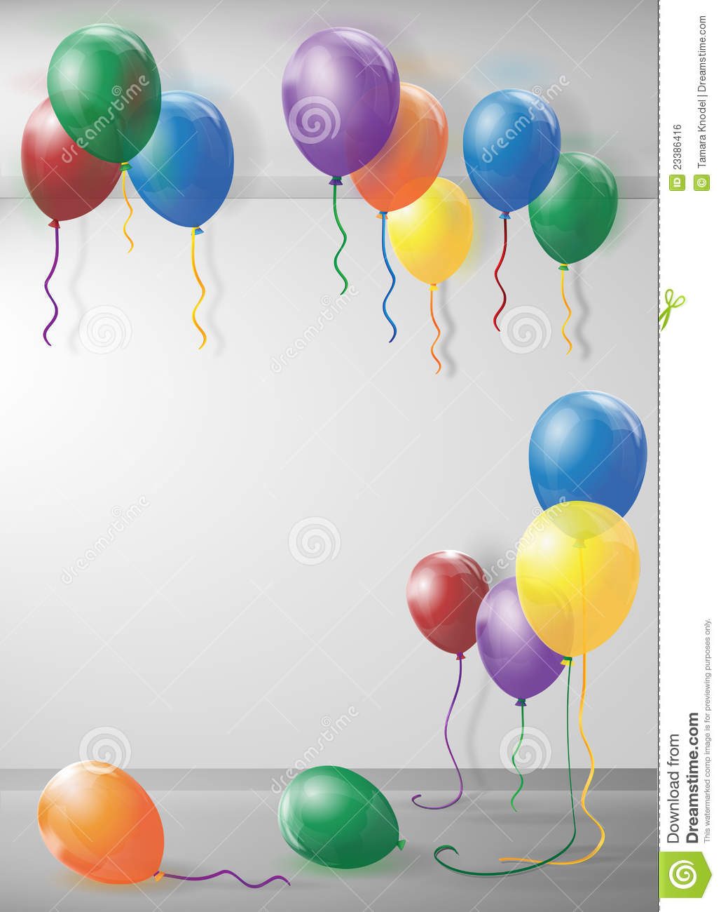 Room Filled With Balloons Stock Vector Image Of Birthday
