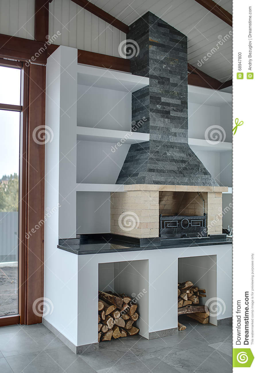 Room With Fireplace Stock Photo Image Of Chimney Room 68947800