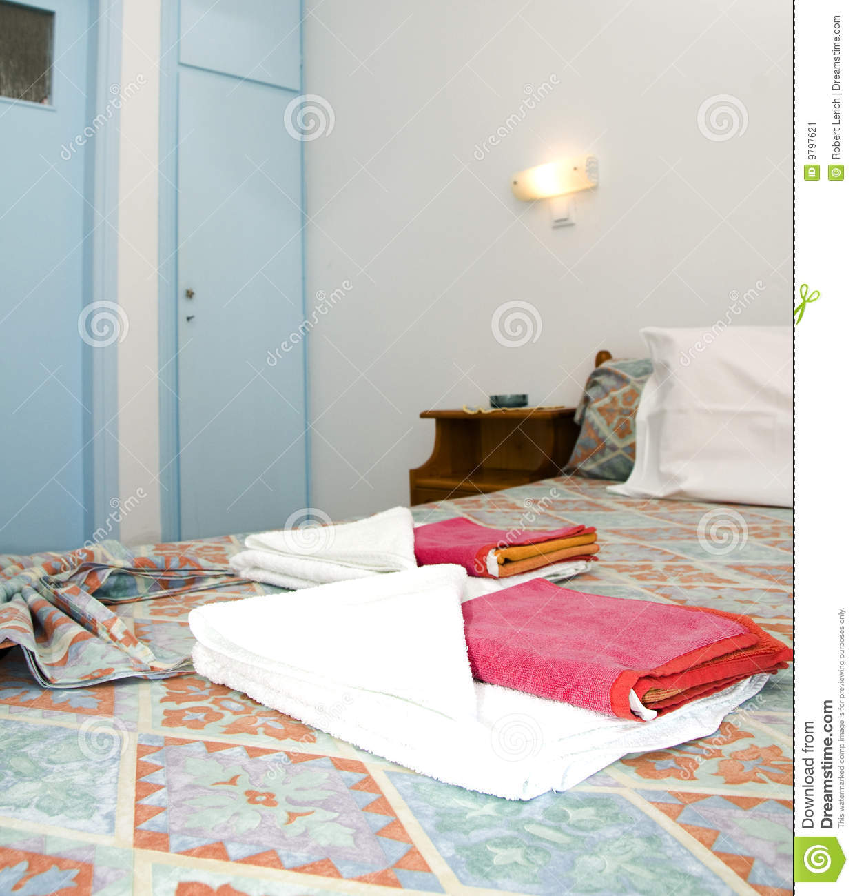 Studio House For Rent: Room In Greek Island Studio Apartment For Rent Stock Image
