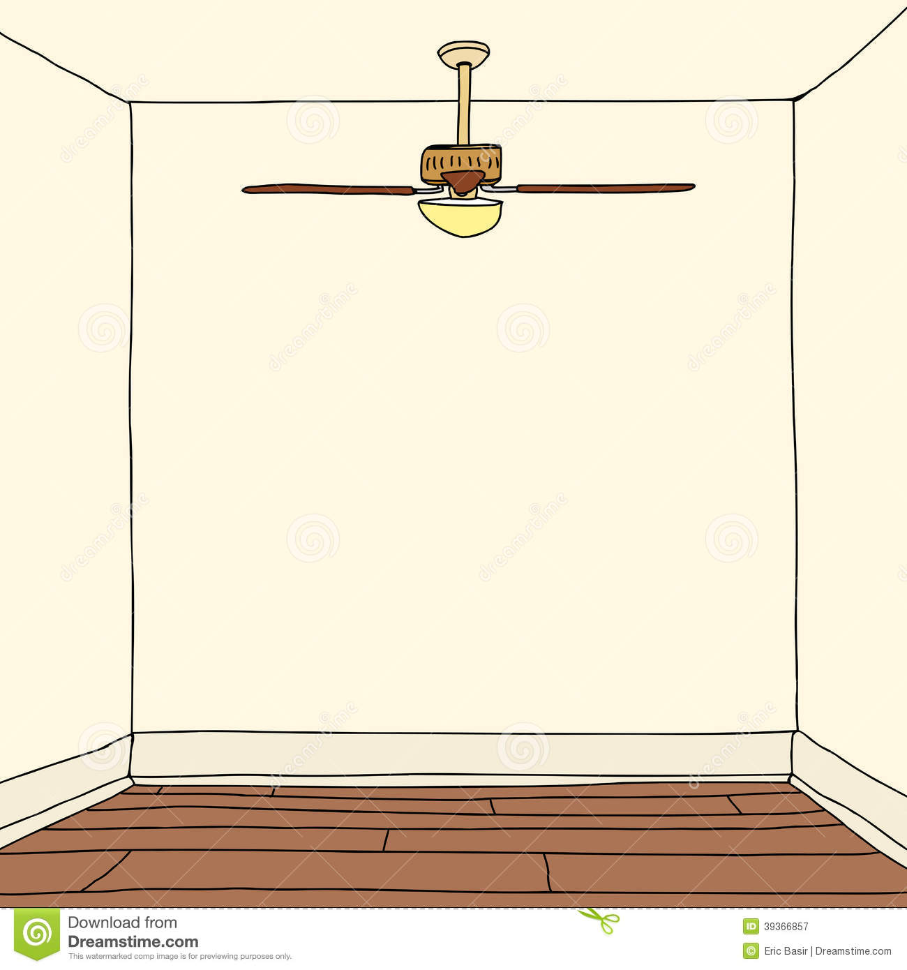 Room With Hardwood Floors Stock Vector - Image: 39366857