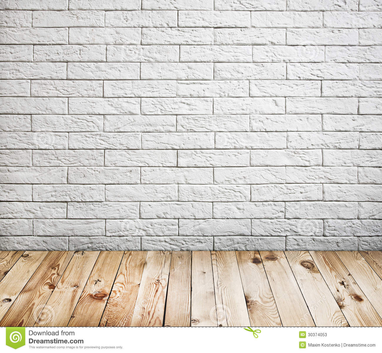 Room interior with white brick wall stock image image of for White brick wall