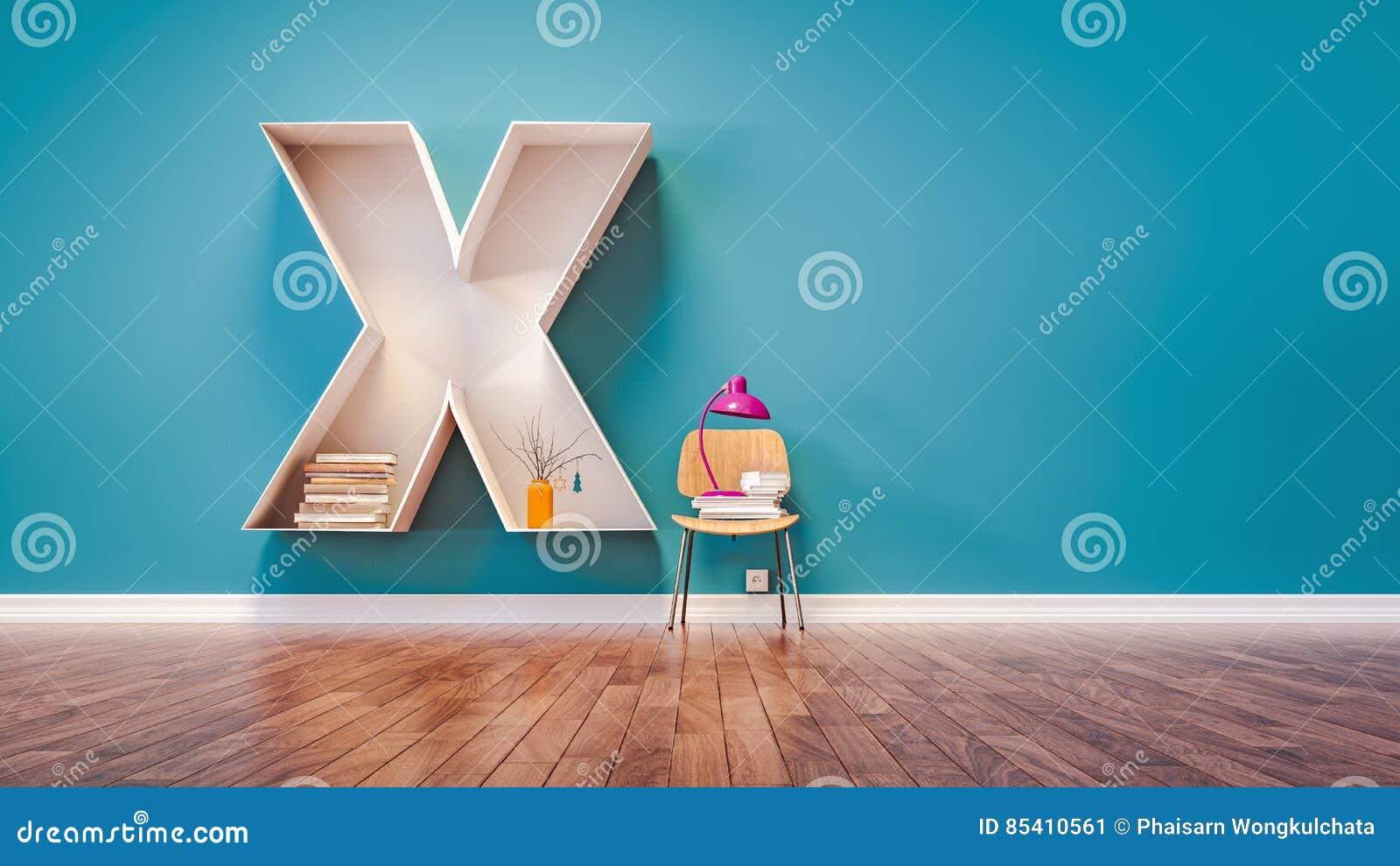 Room For Learning The Letter X Has Designed A Bookshelf