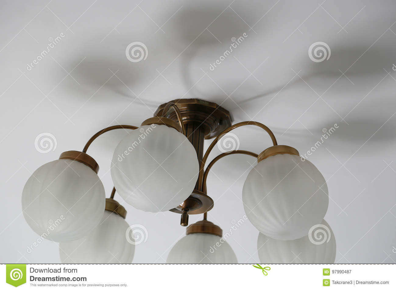 Room lighting fixtures on the ceiling