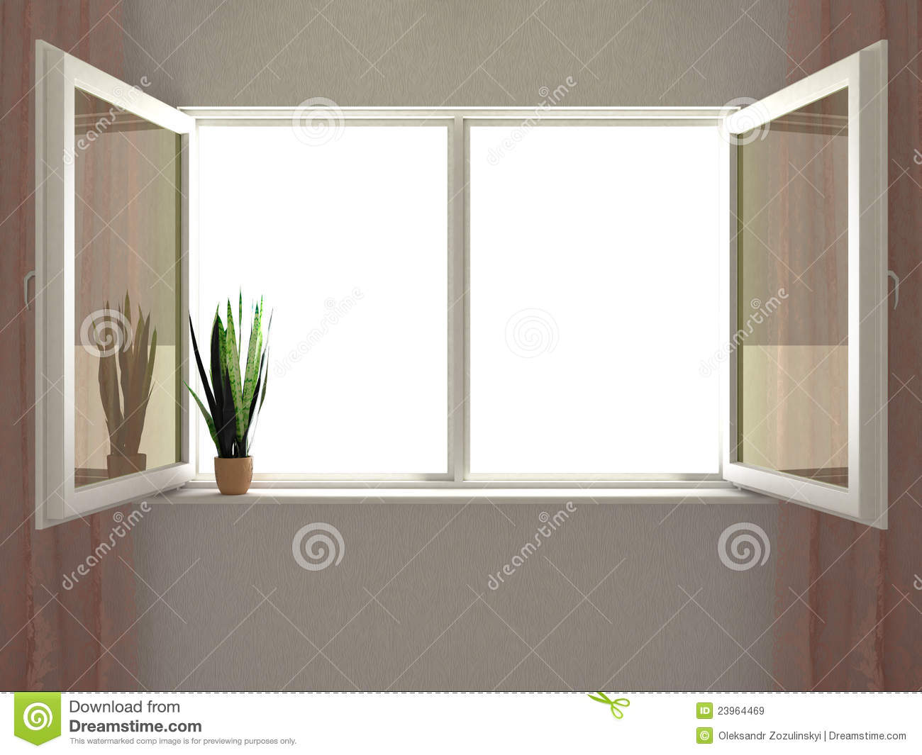 Empty Office Room With Window