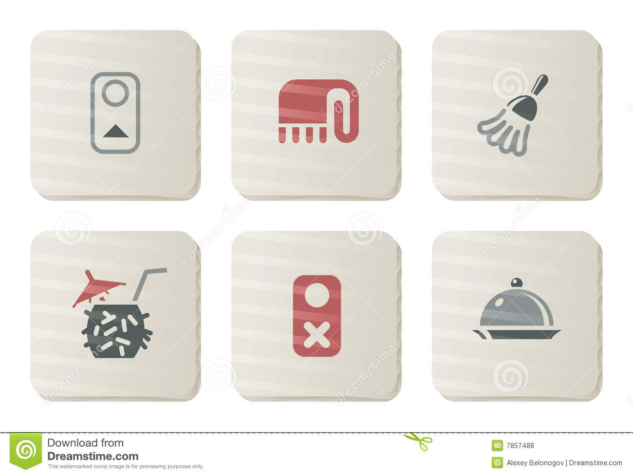 Room service icons | Cardboard series