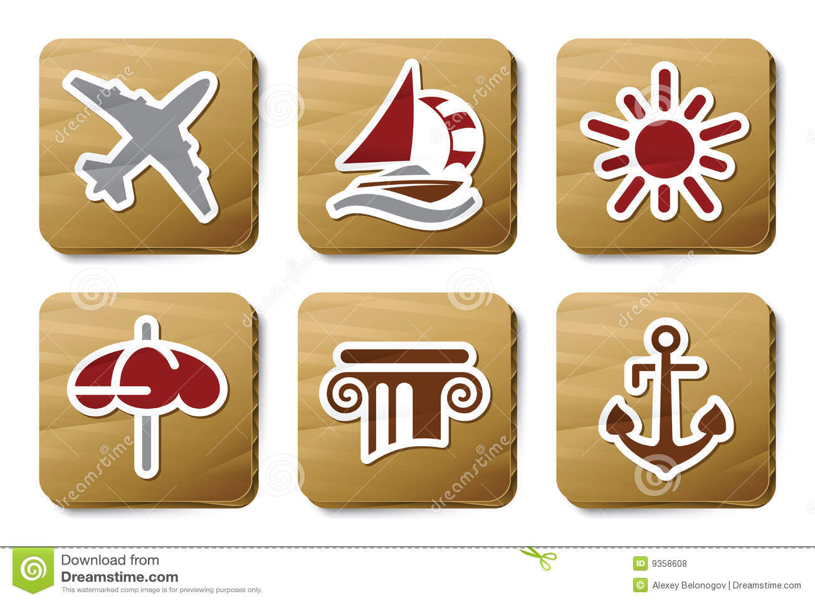 Room service icons | Cardboard series