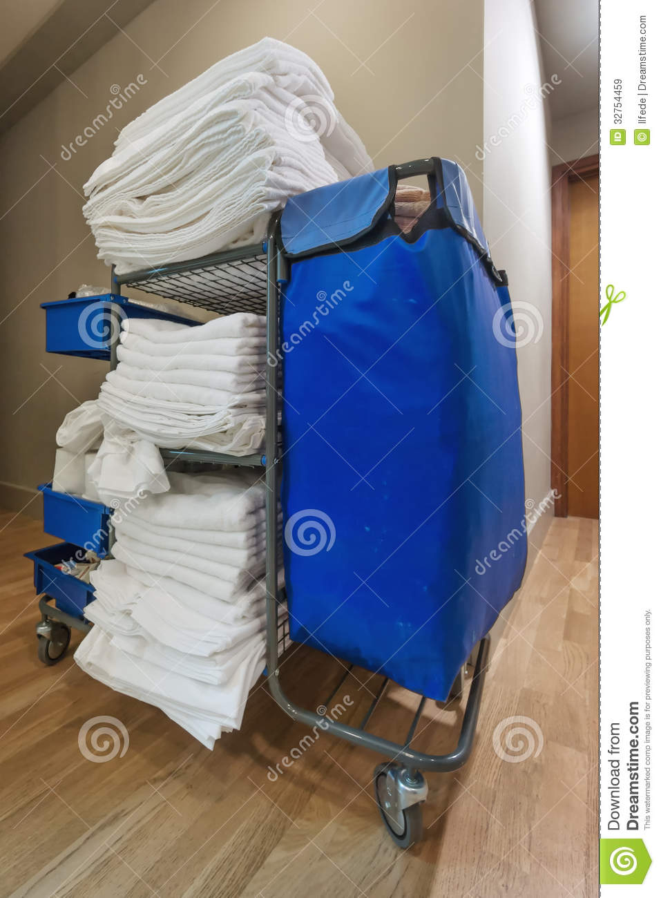 Room service janitorial cart in the hotel stock image for Hotel room service cart