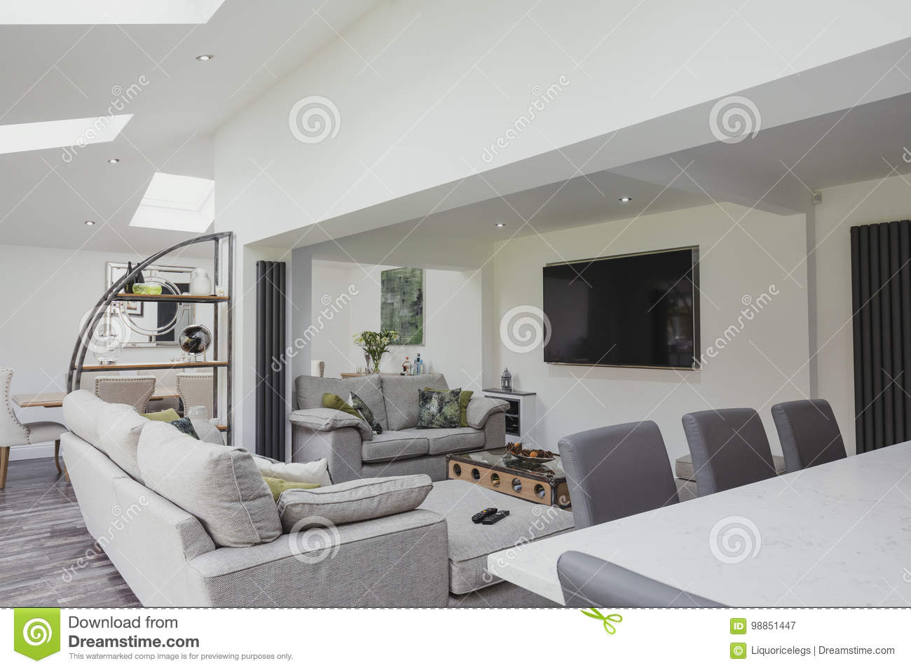 Beautiful Contemporary Living Room Stock Image - Image of ...