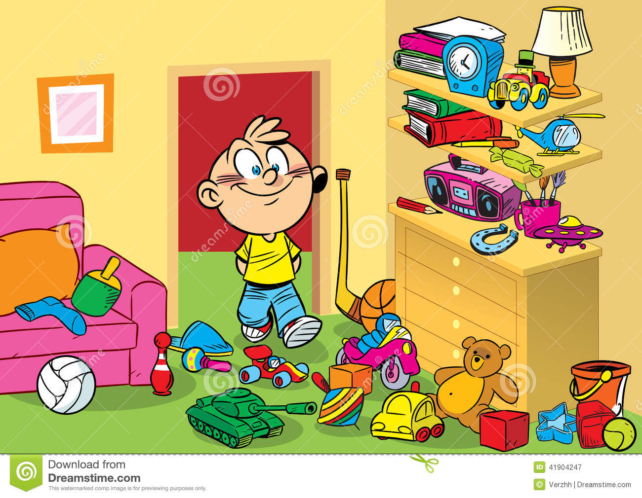 Room With Toys Stock Vector Image 41904247