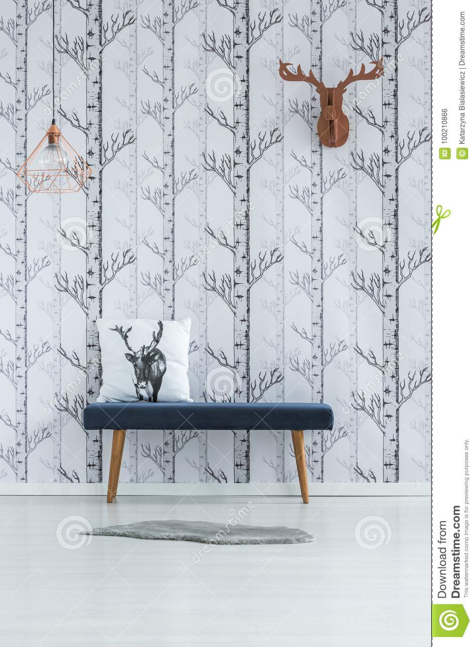 Room with trees wallpaper