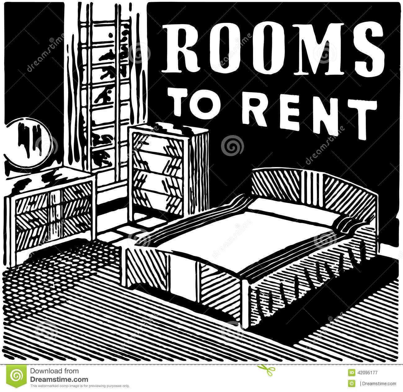 Room For Rent: Rooms To Rent Stock Vector