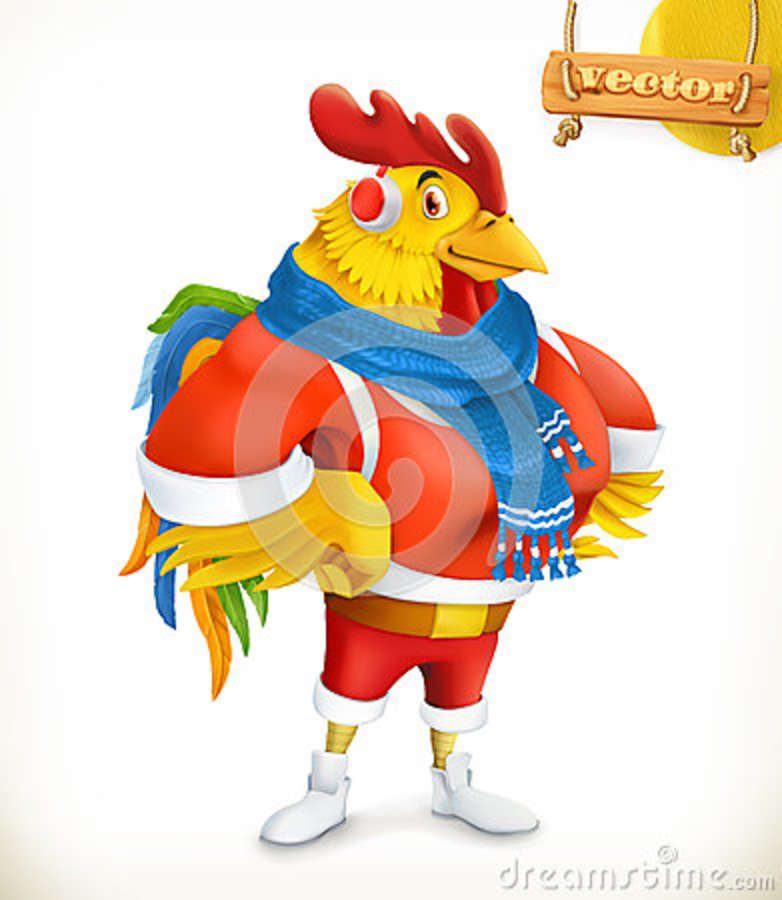 Rooster. Animal 2017. New Year Mascot. 3d Vector Cartoon ...