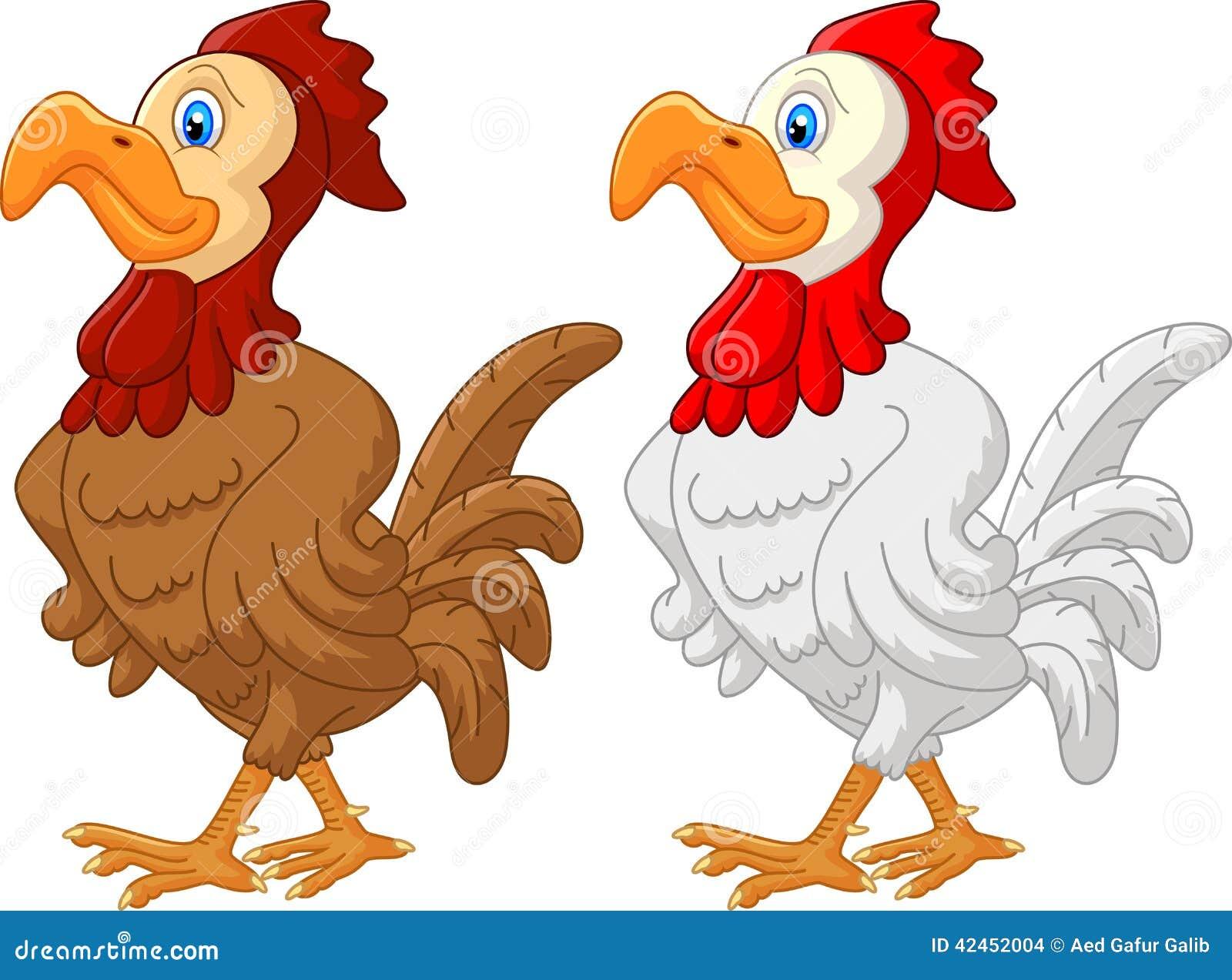 Rooster Cartoon Stock Vector