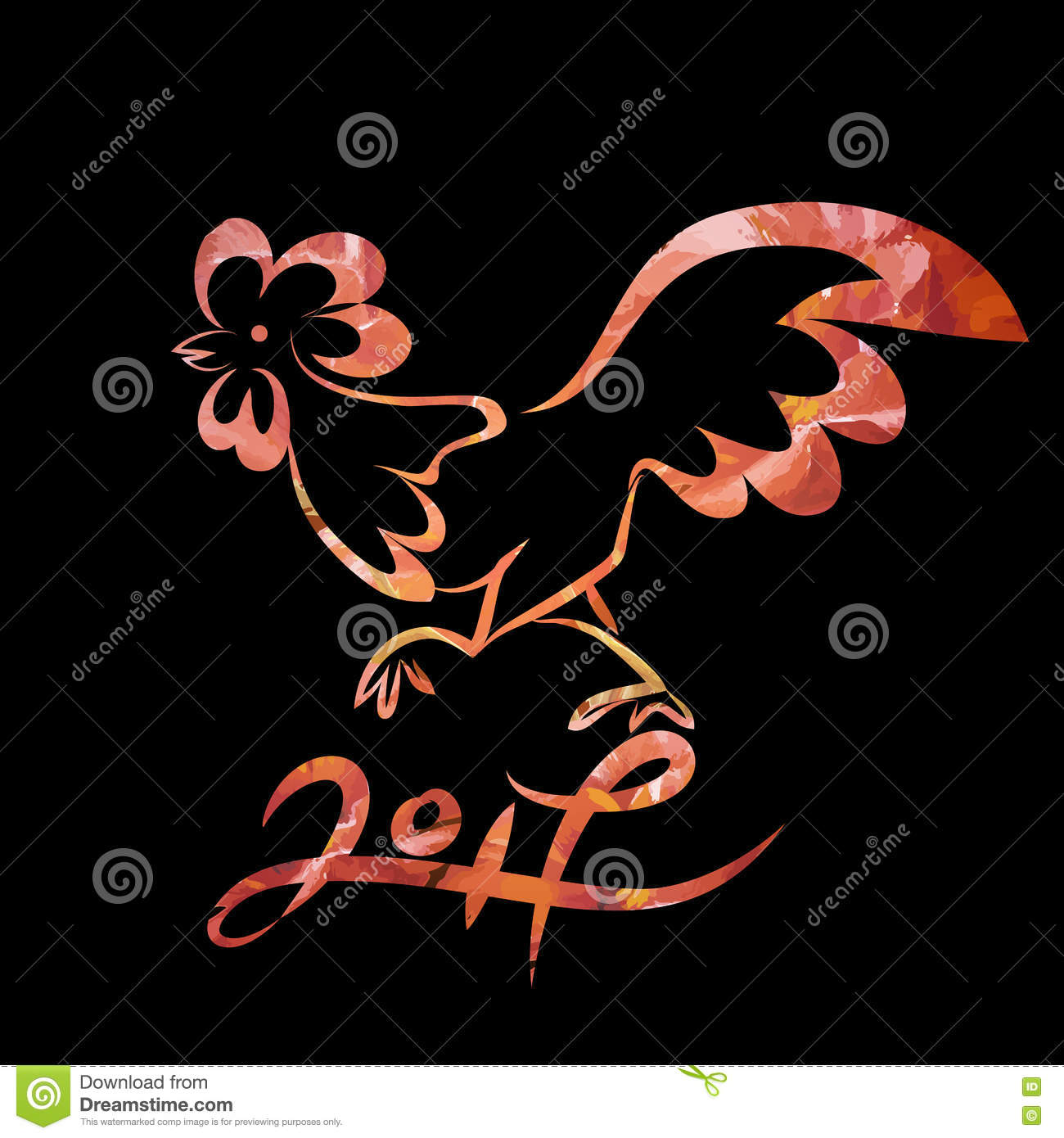 download rooster chinese new year design graphic stock vector illustration of border sketch