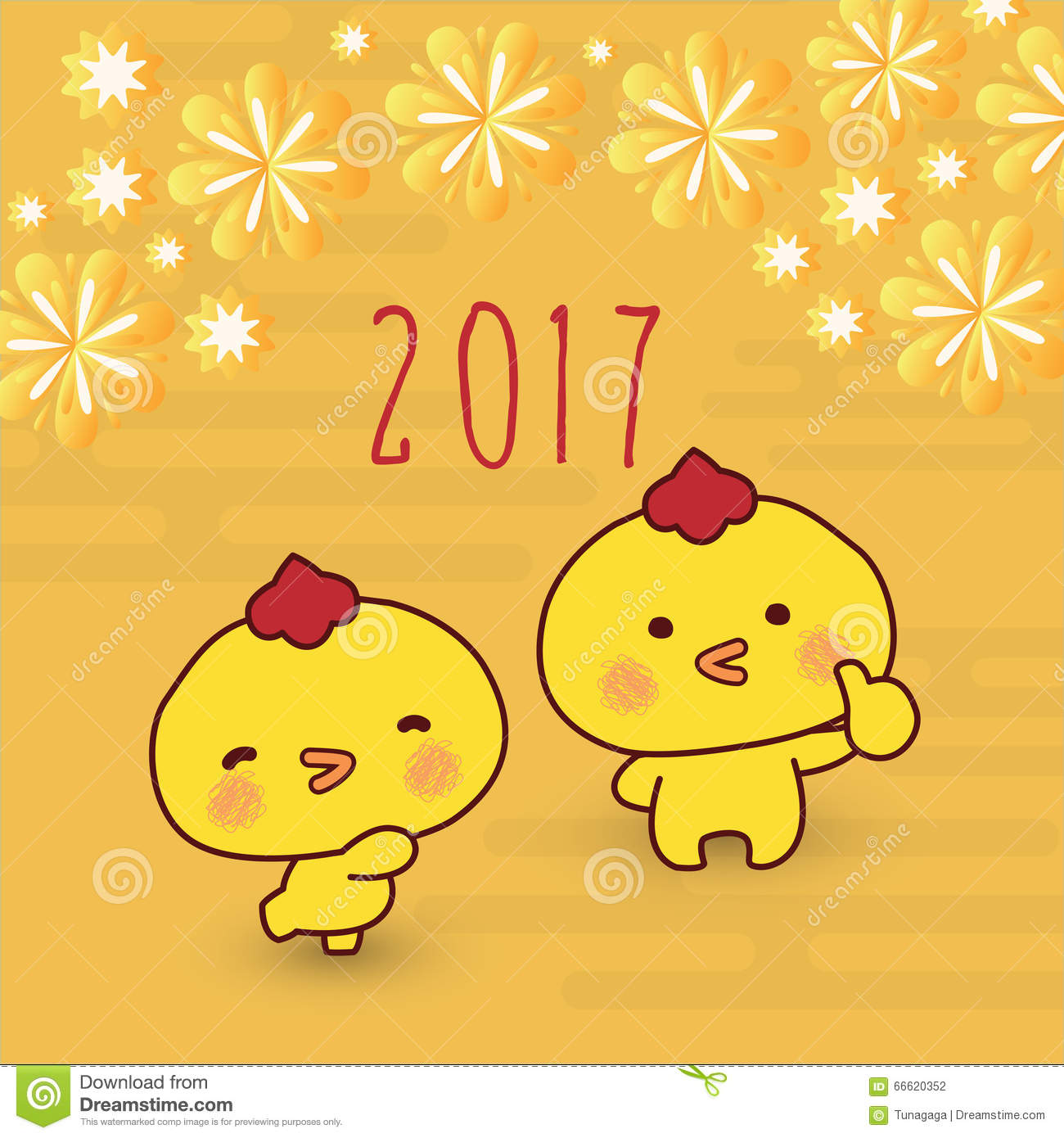 2017 rooster chinese new year greeting card design stock vector 2017 rooster chinese new year greeting card design animal blossom kristyandbryce Images