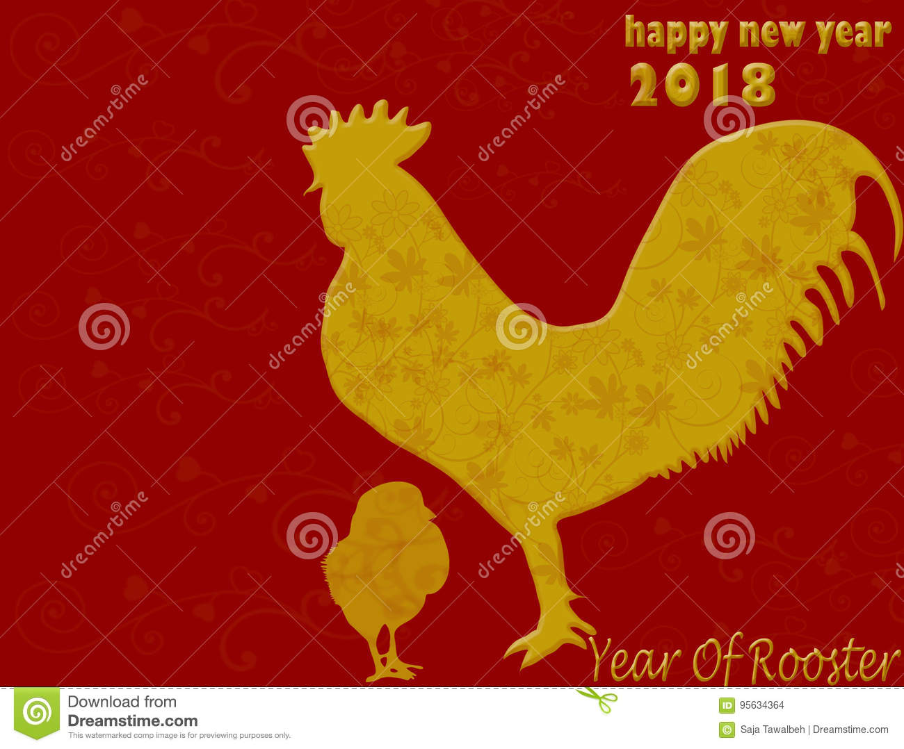happy chinese new year 2018 on red background