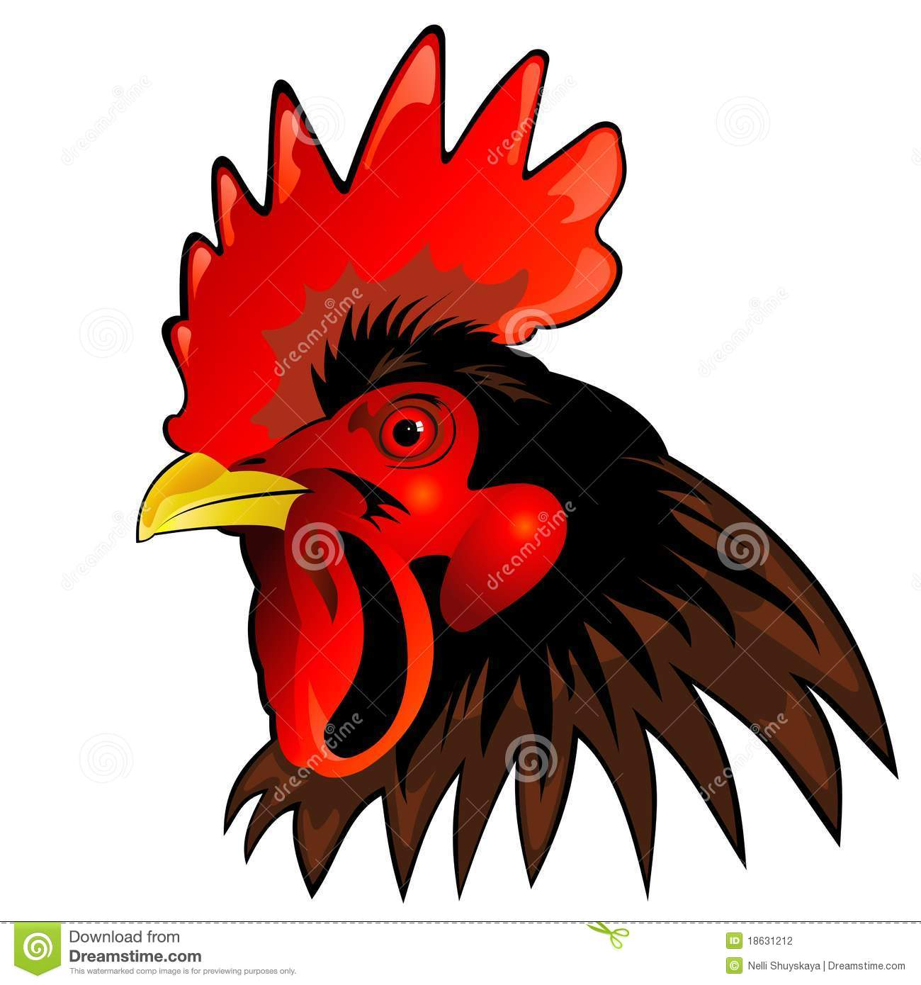 Rooster Head Stock Photography Image 18631212